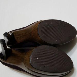 Brown booties shoe